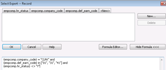Using Crystal Reports To Produce SQL Statements